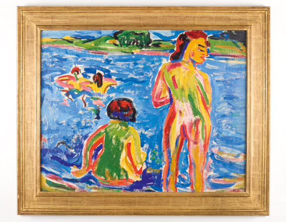 5. Heckel, Bathers in a Pond