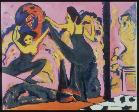 Ernst Ludwig Kirchner (1880-1938) Tightrope Walk, 1908-10 Oil on canvas 120 x 149 cm (47 ¼ x 58 5/8 in.) Neue Galerie New York