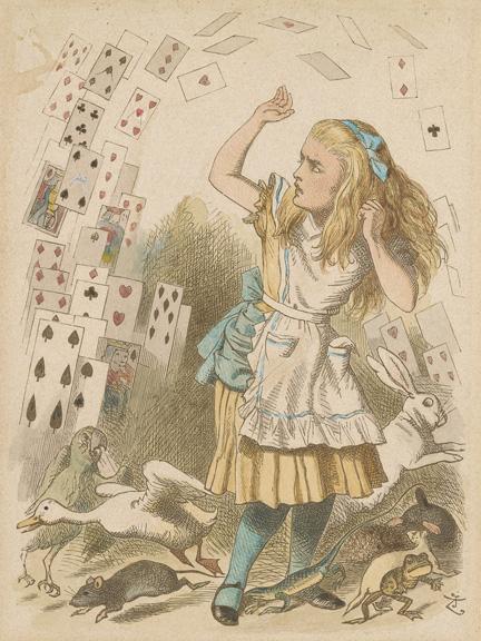 Tenniel, John, 1820-1914, Shower of Cards [print], 19th century, 1 print, 2005.203