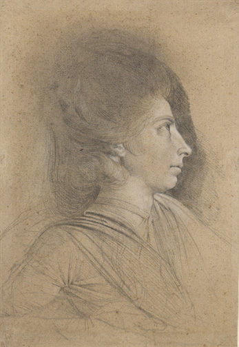 Fuseli, Henry, 1741-1825, Portrait of Martha Hess [drawing], late 1778 or early 1779,1 drawing, 1954.1