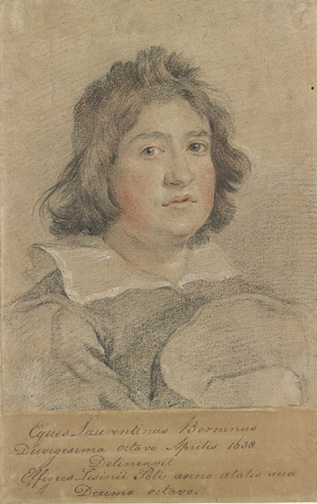 Bernini, Gian Lorenzo, 1598-1680 Portrait of Sisinio Poli [drawing] 17th century, IV 174