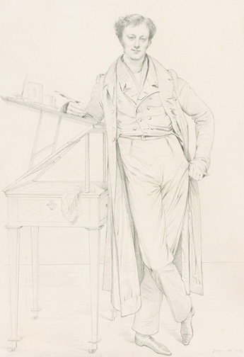 Ingres, Jean-Auguste-Dominique, 1780-1867, Portrait of Adolphe-Marcellin Defresne [drawing], 1825, Thaw Collection, EVT 222