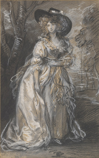 Gainsborough, Thomas, 1727-1788, Study of a Lady [drawing], 18th century, 1 drawing, III, 63b