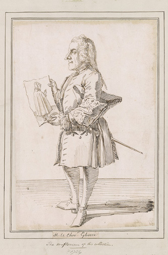 Ghezzi, Pier Leone, 1674-1755, Self-Portrait [drawing], 18th century, 1985.86