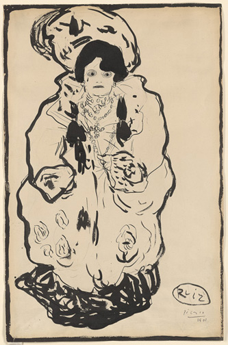 Picasso, Pablo, 1881-1973, Portrait of Marie Derval [drawing], 1901, Thaw Collection, EVT 317