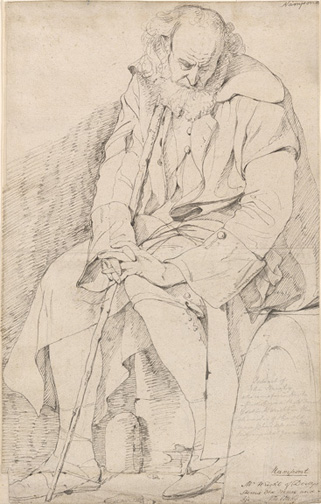 Wright, Joseph, 1734-1797, Portrait of John Stavely [drawing], 18th century, 1 drawing, 1976.20