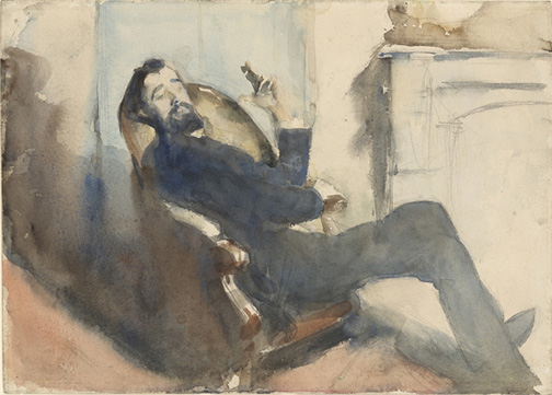Sargent, John Singer, 1856-1925, Portrait of Paul-Cesar Helleu [drawing], [ca. 1882-85], 2005.5