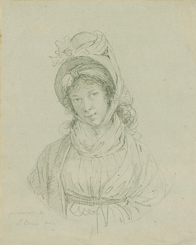 Vigee-Lebrun, Louise-Elisabeth, 1755-1842, Self-Portrait [drawing], 18th century, 1 drawing, 1955.8