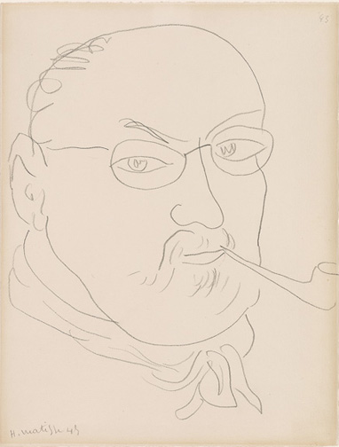 Matisse, Henri, 1869-1954, Self-Portrait [drawing], 1945, Thaw Collection, EVT 116