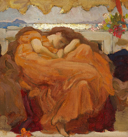 Leighton_Oil sketch for Flaming June_2000