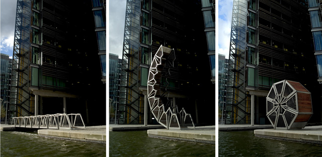 Rolling Bridge, London, 2002-2004, Heatherwick Studio. Photo: Steve Speller