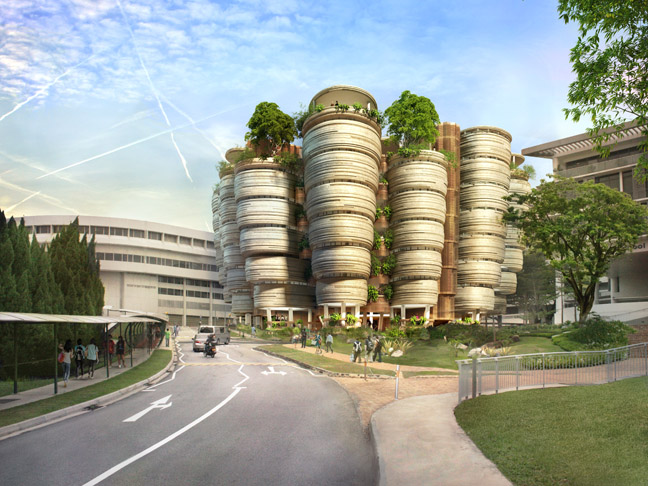 Learning Hub, Nanyang Technological University, Singapore, 2011-2014, Heatherwick Studio. Credit: Heatherwick Studio