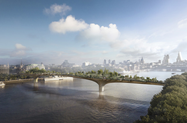 Garden Bridge, London, 2012-18, Heatherwick Studio. Credit: Arup