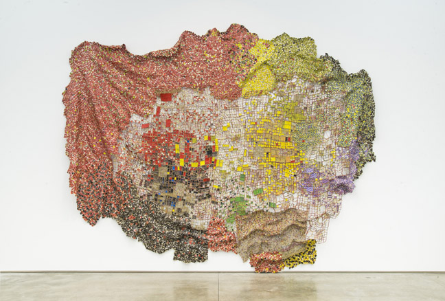 EA11.013 Stressed World (installed 2015 El Anatsui FiveDecades TheSchool) HR