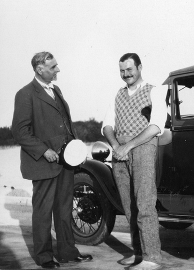 "EH 8163P April, 1928 Ernest Hemingway and Clarence Hemingway. Key West. Please credit; ""John F. Kennedy Library, Boston."""