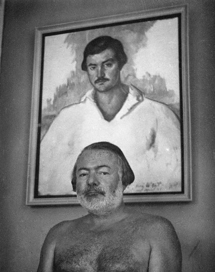 EH 4907P Ernest Hemingway in his home in Cuba, not dated, circa 1952. Photograph in the Ernest Hemingway Collection, John F. Kennedy Presidential Library and Museum, Boston.