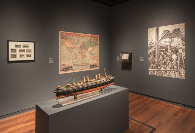 Exhibition view of Masterpieces & Curiosities: Alfred Stieglitz's The Steerage at The Jewish Museum, NY