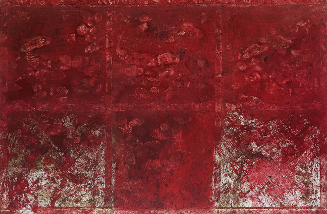 Hermann-Nitsch,-Schuttbild,-1998,-Blood-and-Acrylic-on-Canvas,-200-x-300-cm