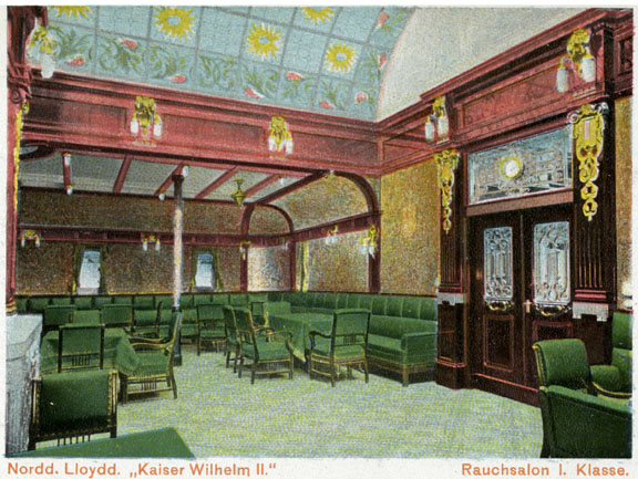 North German Lloyd, Kaiser Wilhelm II, first class smoking room