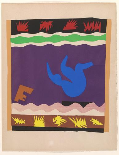 Matisse, Henri, 1869-1954. Le Toboggan (Jazz, pl. XX) [Paris : Teriade, 1947] 2007.77t