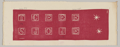 Proofs of initials, Pasiphae; TMP 2014-229.4, Collection of The Pierre and Tana Matisse Foundation.
