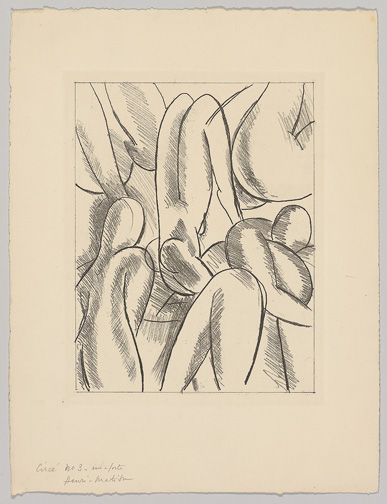 A preliminary study for the etching in the Circe chapter; TMP 2014-229.2, The Pierre and Tana Matisse Foundation, New York