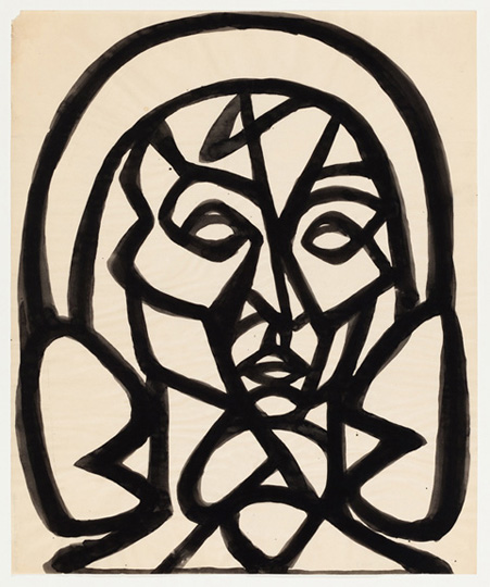 inv-4087 Untitled Mythic Head of a Woman