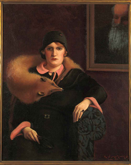 """Portrait of Mrs. A. J. Motley, Jr."" by Archibald J. Motley, Jr., 1930. Oil on canvas."