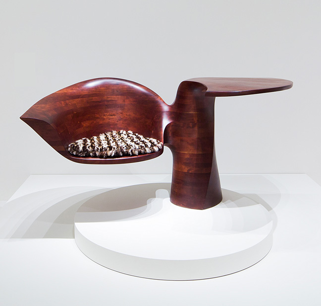 """Exhibition Ð Wendell Castle """"Wandering Forms, Works from 1959-1979"""", September 27 2013-February 2 2014, SCAD Museum of Art (Experimental Gallery and Jewelboxes) Ð Photography by John McKinnon, courtesy of SCAD."""