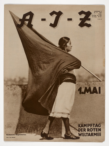 Tina Modotti (Italian, 1896–1942). Woman with Flag (1 de Mayo, Muher con Bandera), A- I-Z, Iss. 17 (1931). Rotogravure, approx. 15 1/8 x 11 1/8 in. (38.2 x 28 cm). The Museum of Fine Arts Houston, Museum purchase funded by Max and Isabell Smith Herzstein