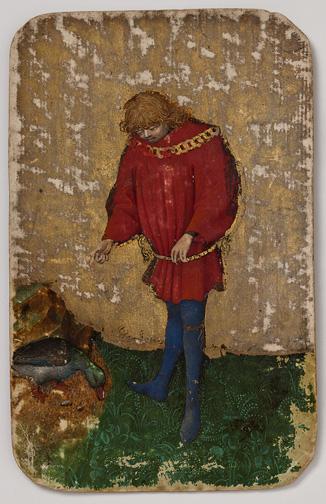Stuttgarter Kartenspiel, um 1430, ca. 19,1 x 12,1 cm