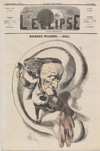 Gill, Andre, 1840-1885. Richard Wagner, per Gill [Paris : L'eclipse, 1869] MMP W134.8