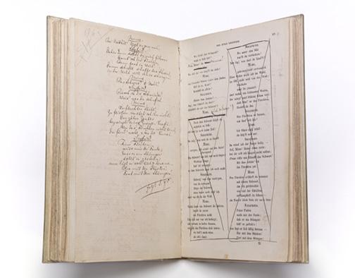 Wagner, Richard, 1813-1883. Der Ring des Nibelungen : ein Buhnenfestspiel fur drei Tage und einen Vorabend. [Zurich] : E. Kiesling, [1853] Heineman 739