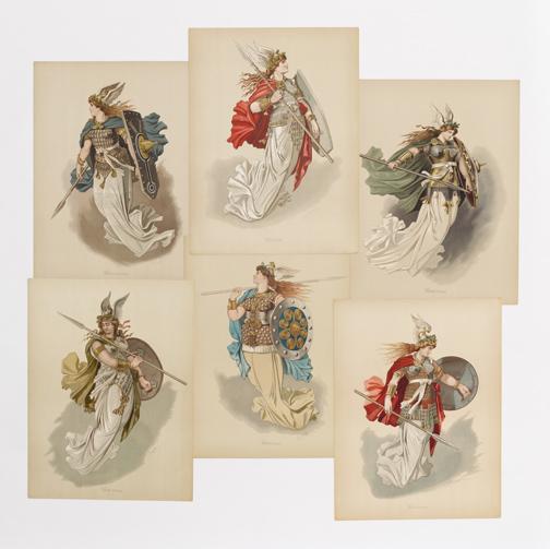 Doepler, Carl Emil, 1824-1905. Der Ring des Nibelungen : Figurinen / [Berlin] : Berliner Kunstdruck- und Verlags-Anstalt, [1889] PMM 285