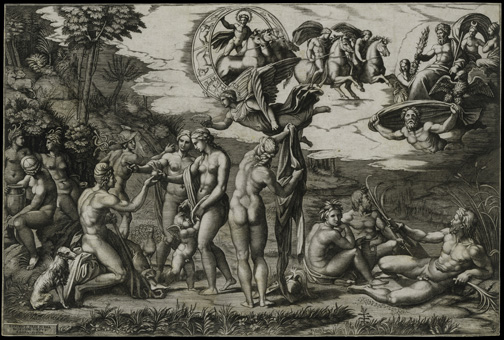 9. Marcantonio Raimondi, after Raphael, The Judgment of Paris-300