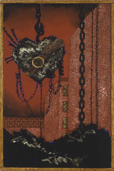Chain Saw Valentine (Portrait of Joaquin Angaza), 1984_CP
