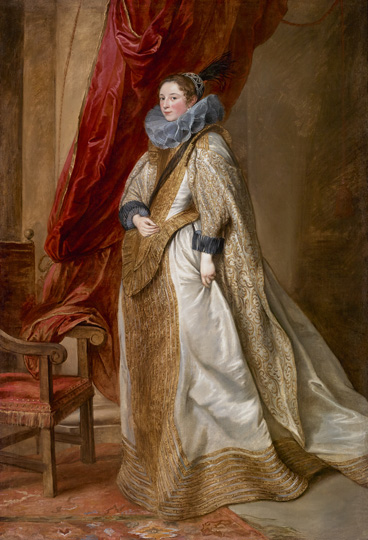 Sir Anthony Van Dyck (1599 - 1641) Portrait of a Genoese Noblewoman, 1622-1627 oil on canvas 90 7/8 in. x 61 5/8 in. (230.82 cm x 156.53 cm) Henry Clay Frick Bequest. Accession number: 1914.1.43