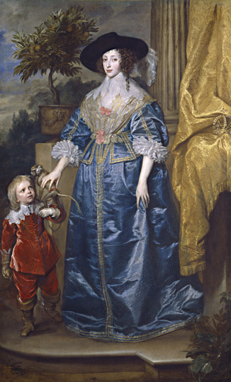 Anthony van Dyck (1599–1641) Queen Henrietta Maria with Her Dwarf, Jeffery Hudson, 1633 Oil on canvas National Gallery of Art, Washington; Samuel H. Kress Collection