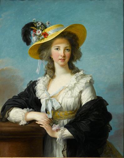 3. Vigée Le Brun_The Duchesse de Polignac in a Straw Hat_1782_Versailles