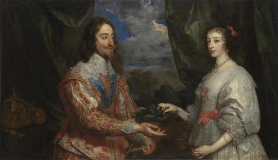 O 406, KE 2372, Anthonis van Dyck - Anglický král Karel I a jeho manželka Henrietta Marie (1632 - 1634), olej, plátno, 104x176 cm, AMK Kroměříž