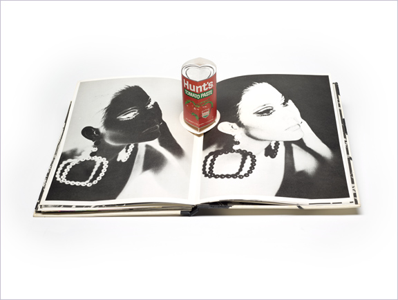 Andy Warhol's index (book) / New York : Random House, 1967, opening with Hunts Tomato Paste pop up in center, PML 196142