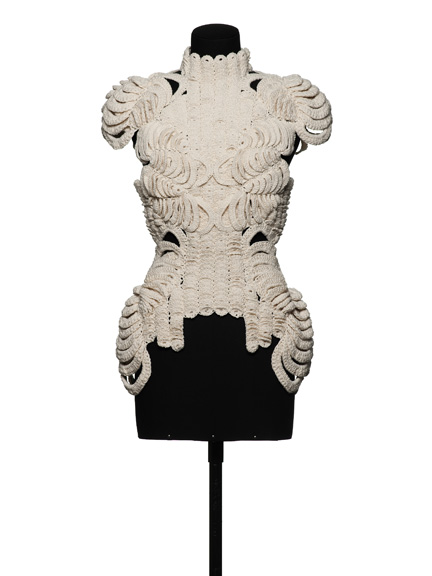 Sandra Backlund (Swedish, b. 1975); Dress, from Fall / Winter collection, 2013; Crocheted cotton