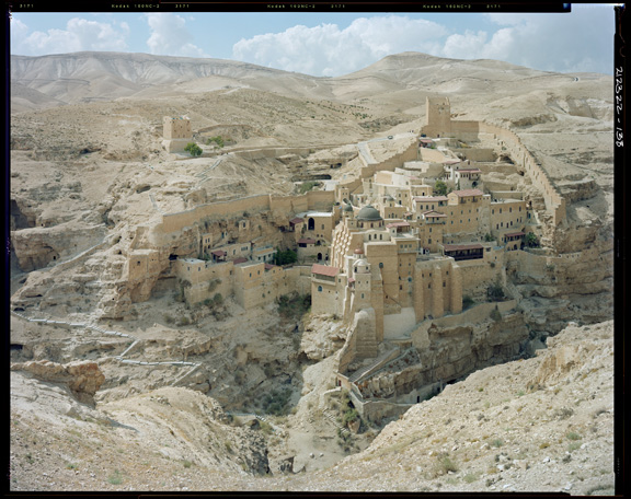 Stephen Shore (American, born 1947). St. Sabas Monastery, Judean Desert, Israel, September 20, 2009. Chromogenic print, 36 x 45 in. (91.4 x 114.3 cm). Courtesy of the artist and 303 Gallery, New York. © Stephen Shore, all rights reserved