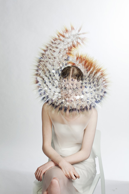 Maiko Takeda (Japanese, b. 1986); Atmospheric Reentry series, 2013–14; Acetate films, acrylic discs, rhodium-plated metal jumprings, plastic base, fabric-covered metal wire