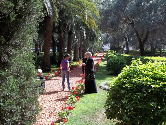 Wendy Ewald (American, born 1951). Gardens in Haifa, photograph by Inham, East Jerusalem, 2012–13. Archival pigment ink print mounted on aluminum, 5 3/8 x 6 7/8 in. (13.7 x 17.5 cm). © Wendy Ewald, all rights reserved