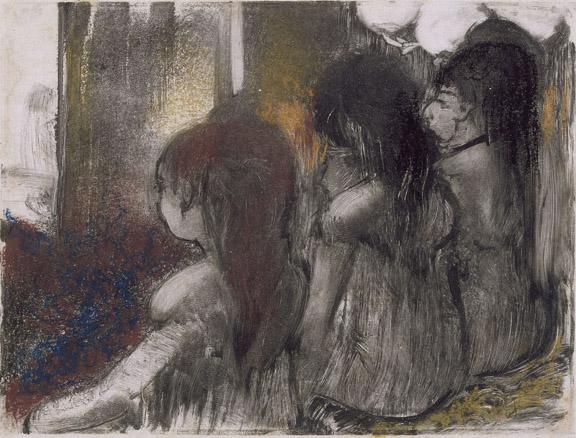 Trois filles assises de dos Degas Edgar (dit), Gas Hilaire-Germain Edgar de (1834-1917) Paris, musŽe Picasso