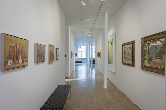 The art works of Italian artist Giorgio Morandi photographed October 4, 2015 at the Center for Italian Modern Art (CIMA) in New York, NY. Photo credit: Walter Smalling Jr.