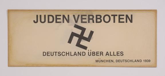 6 Juden Verboten sign