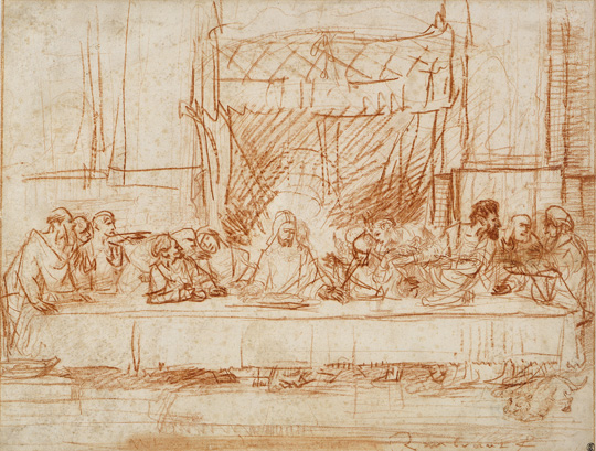9. The Last Supper, after Leonardo da Vinci, ca 1634, Met Museum