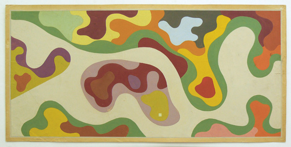 Roberto Burle Marx, design for the Minister's Rooftop Garden, Ministry of Education and Health, Rio de Janeiro, 1938, gouache on paper, 20 ½ x 41 ? in. (52.1 x 105.1 cm). Burle Marx Landscape Design Studio, Rio de Janeiro.
